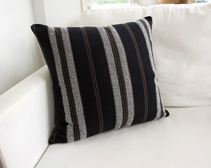 Black Southwest Stripes Accent Pillow - 20x20