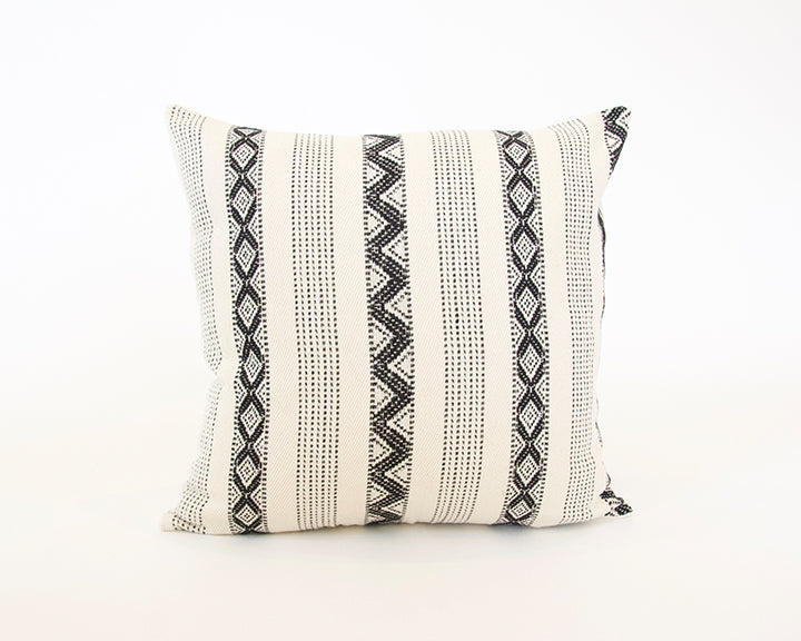 Black & Cream Zig Zag Accent Pillow - 20x20