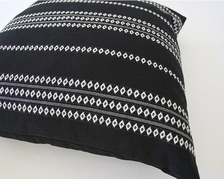 Black Diamond Striped Accent Pillow - 22x22