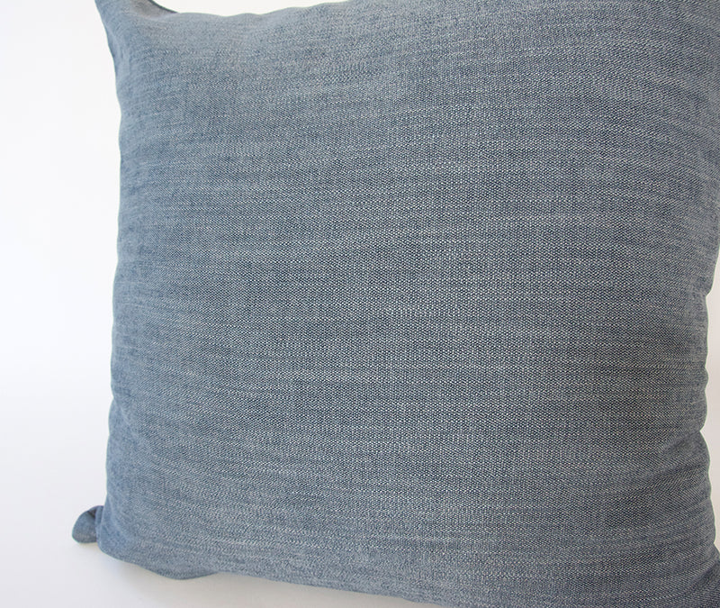 Blue Accent Pillow - 22x22