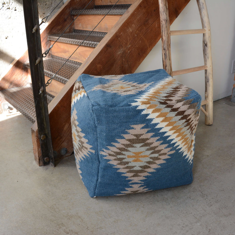 Blue-Navajo-Pouf-floorcushion