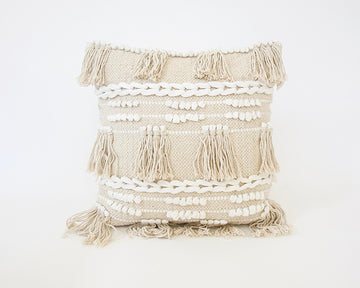 Boho Fringe Accent Pillow - 20x20