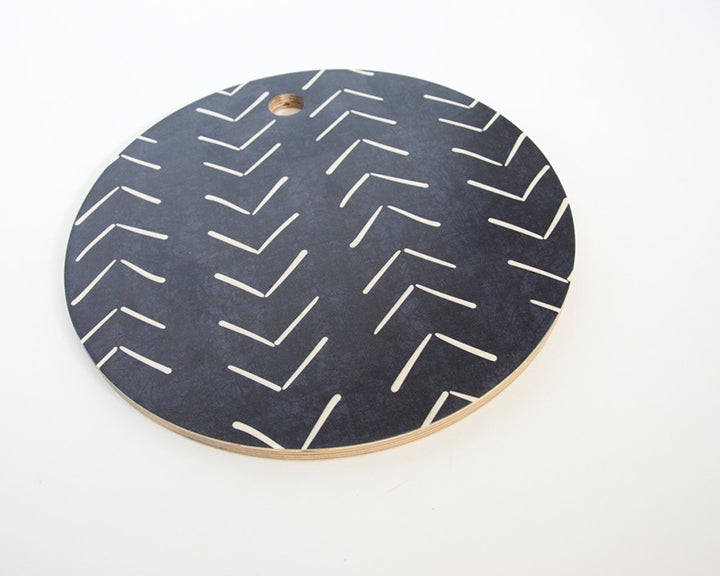 Chevron Mud Cloth Black Cutting Board