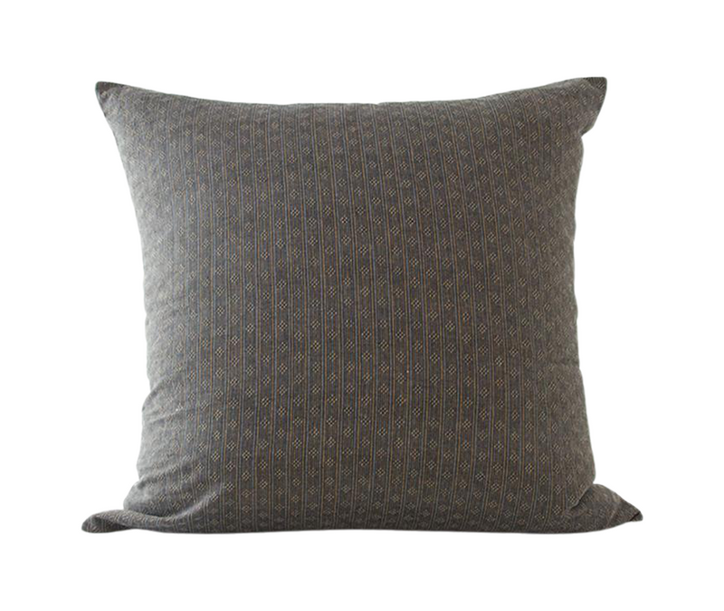 Chocolate Striped Accent Pillow - 22x22