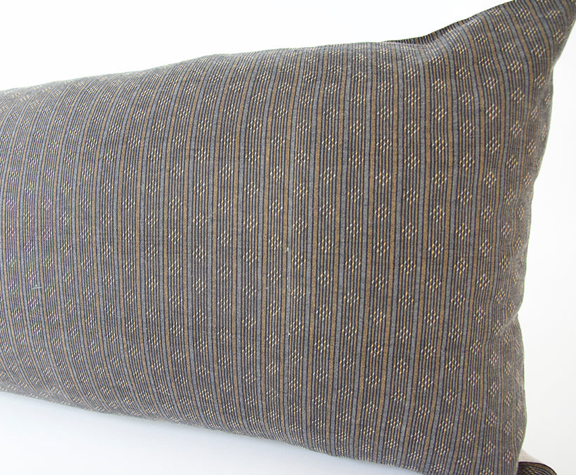 Chocolate Striped Extra Long Lumbar Pillow - 14x50
