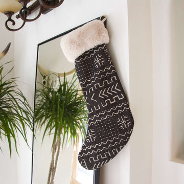 Tribal Christmas Stocking - Black