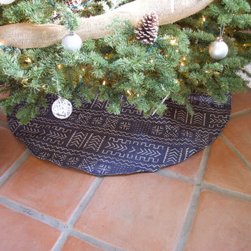 Tribal Christmas Tree Skirt - Blue
