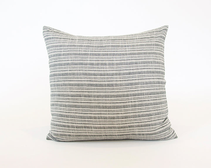 Classic Grey & White Striped Accent Pillow - 20x20