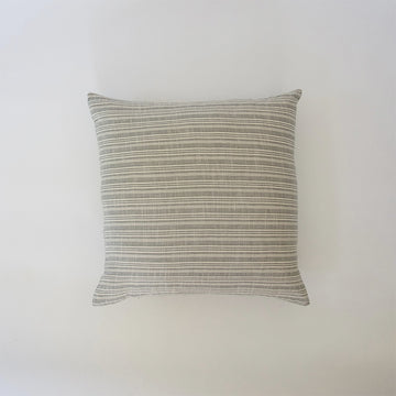 Classic Light Grey & White Striped Accent Pillow - 24x24