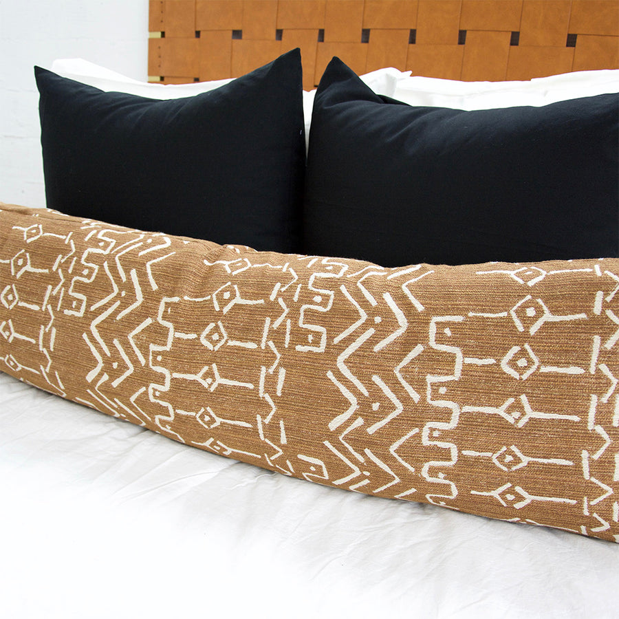 Mud Cloth Pattern Extra Long Lumbar Pillow - 14x50