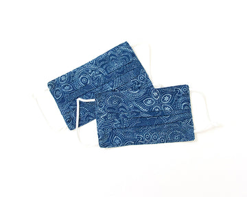 Decorative Face Mask - Blue Bagru Print