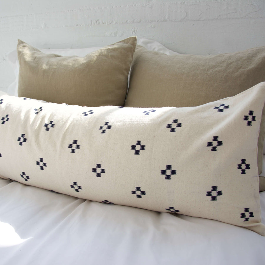 Cream-navy-extra-long-lumbar-pillow