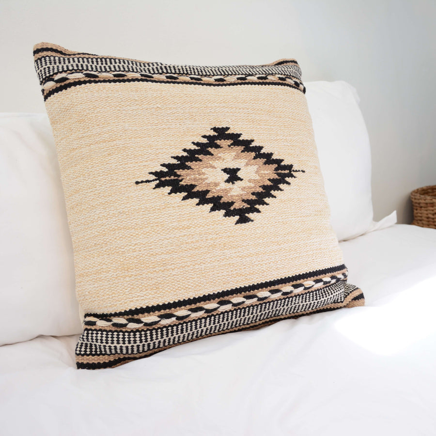 Aztec Diamond Nuetral Accent Pillow 20x20