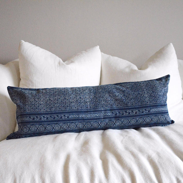 Extra Long Batik Lumbar Pillow