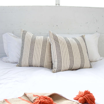White Stripe Accent Pillow - 22x22