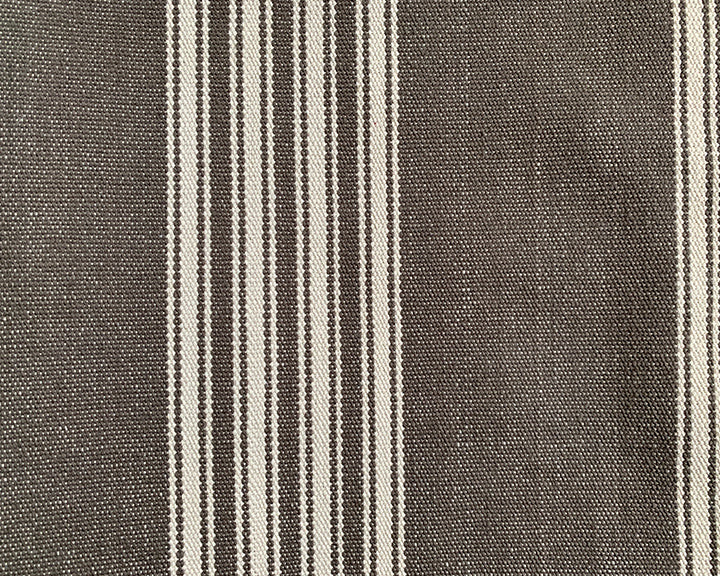 Taupe Grey & White Stripes Extra Long Lumbar Pillow - 14x50