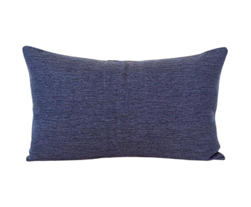 Dark Blue Lumbar Pillow - 14x22
