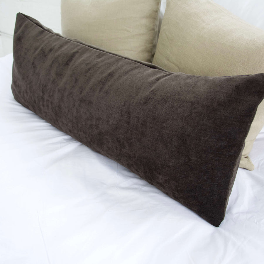 Dark Chocolate Extra Long Lumbar Pillow - 14x36