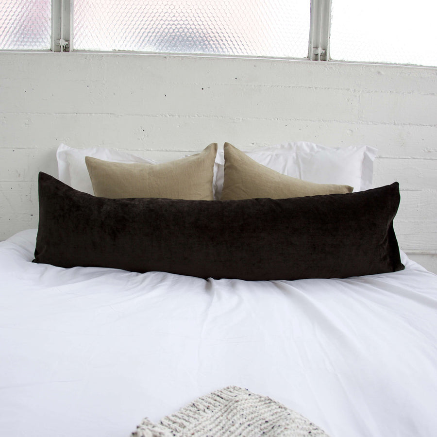 Dark Chocolate Extra Long Lumbar Pillow - 14x50