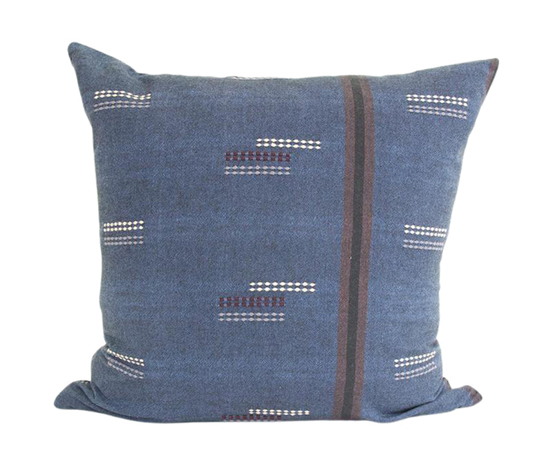 Deep Blue Stitched Accent Pillow - 20x20