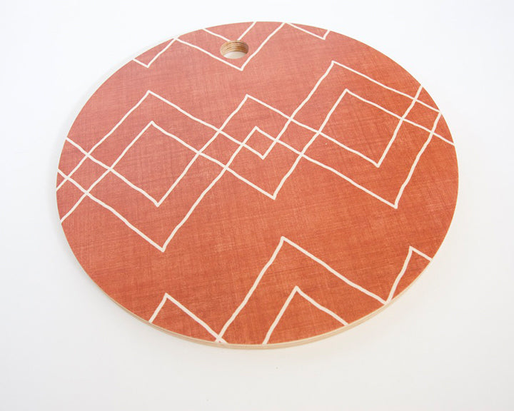 Diamond Rust Cutting Board
