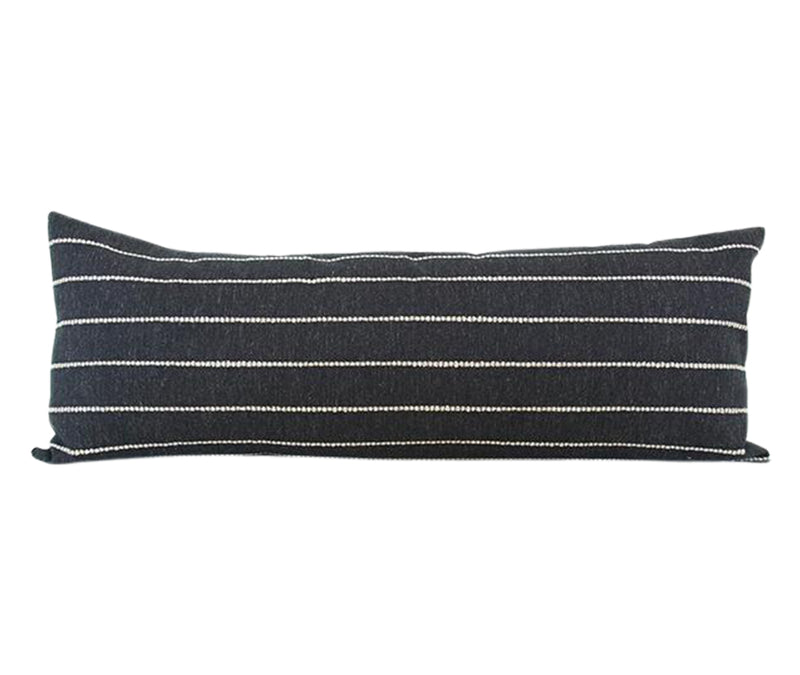 Evie Black Extra Long Lumbar Pillow - 14x36