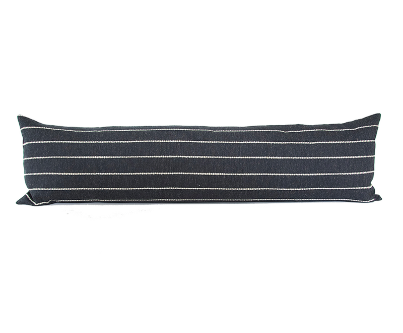Evie Black Extra Long Lumbar Pillow - 14x50