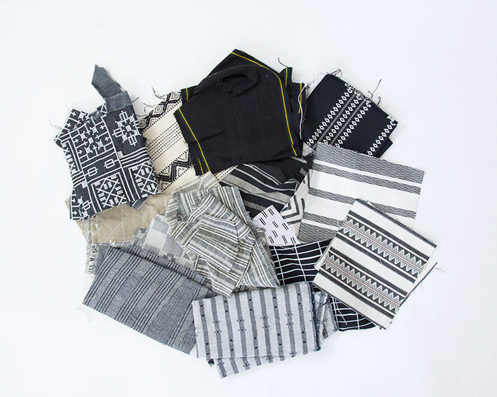Fabric Bundle: Black, White & Grey