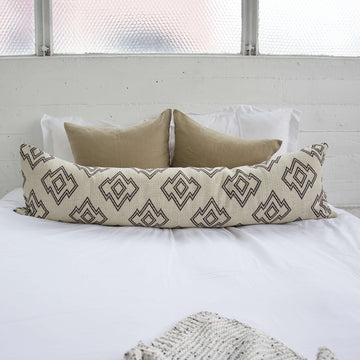 Geometric Extra Long Lumbar Pillow - 14x50