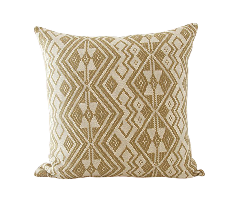 Black & White Striped, Golden Ebony & Woven Kale Pillow Combo