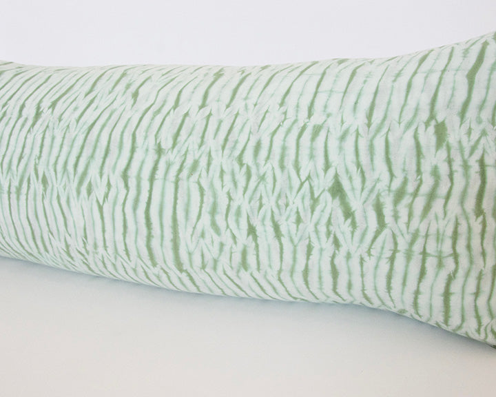 Green Tie Dye Extra Long Lumbar Pillow - 14x36