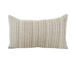 Green & White Punch Card Lumbar Pillow - 14x22