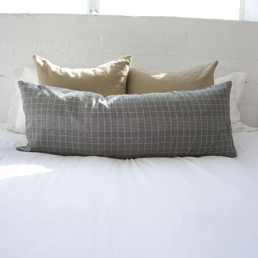 Off The Grid Extra Long Lumbar Pillow - Grey - 14x36