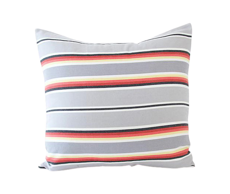 Grey Serape Stripes Accent Pillow - 20x20