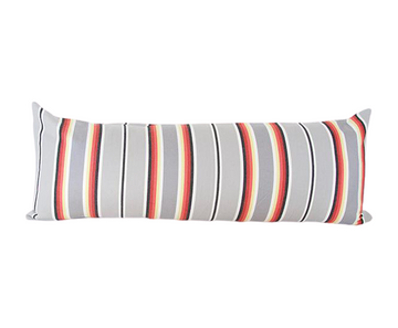 Grey Serape Stripes Extra Long Lumbar Pillow - 14x36