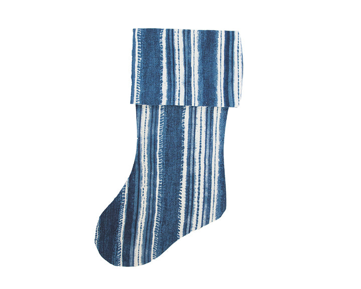 Beach House Blues Christmas Stocking