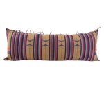 Naga Tribal Lumbar Pillow - Red, Brown & Blue - 14x36