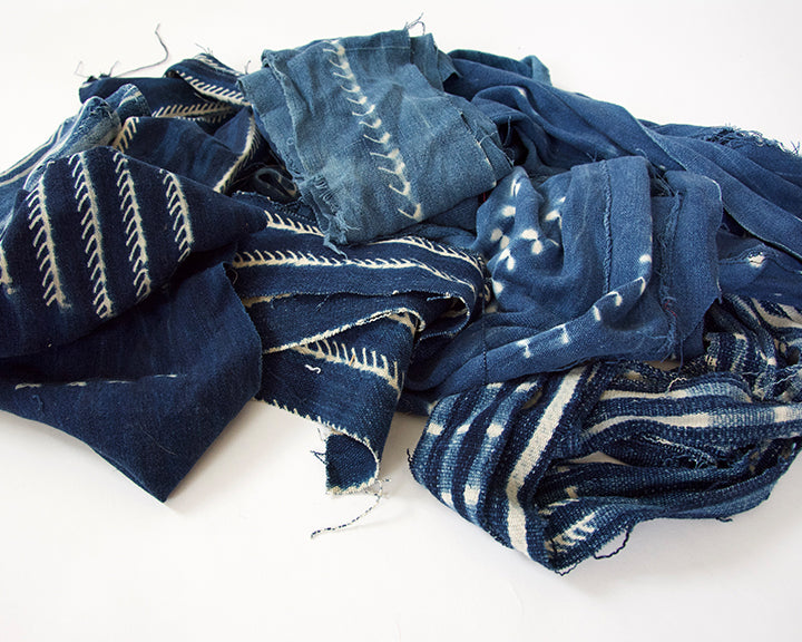 Fabric Bundle: Indigo Mud Cloth