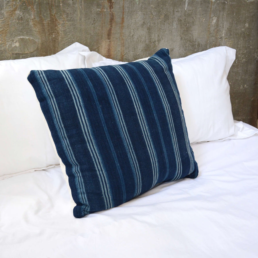 Indigo Stripe Pillow #1