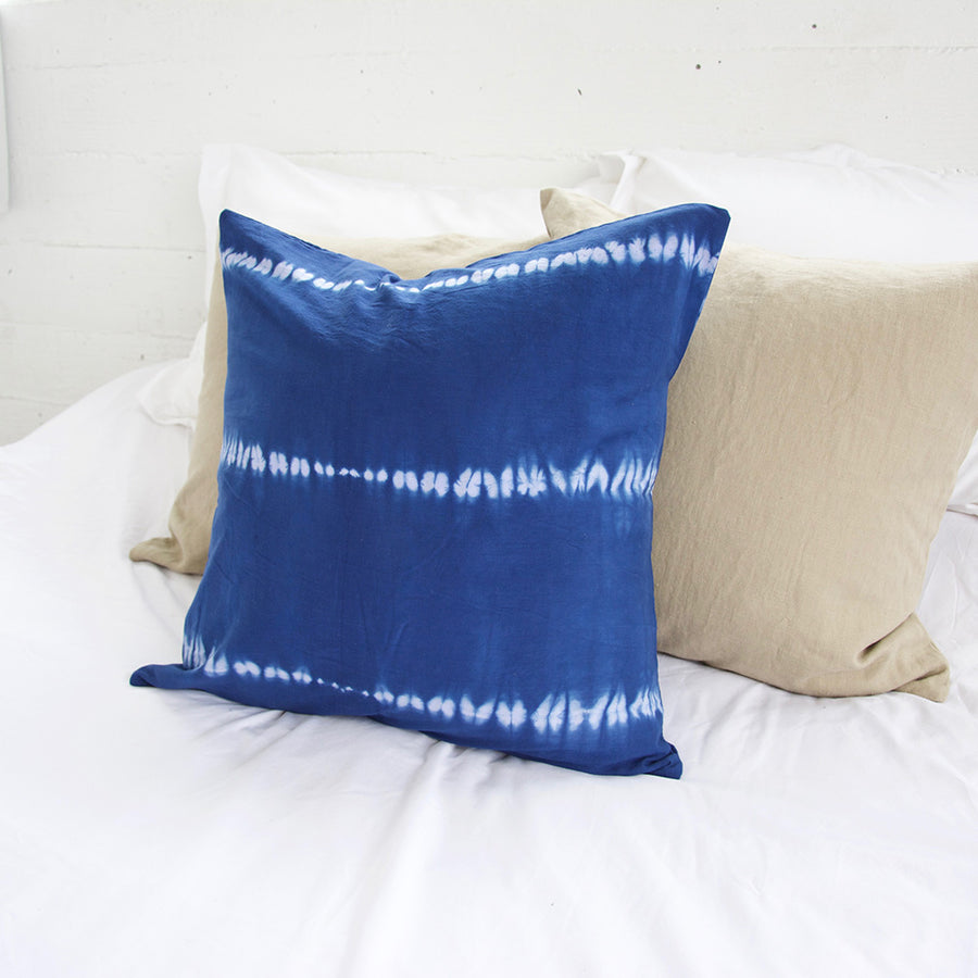 Indigo Tie Dye Accent Pillow - 22x22