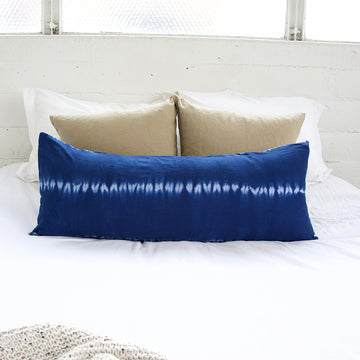 Indigo Tie Dye Extra Long Lumbar Pillow - 14x36