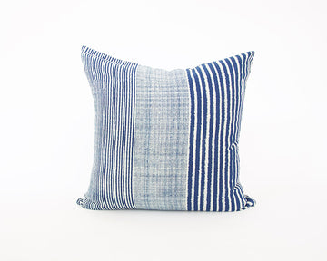 Indigo & White Striped Accent Pillow - 24x24