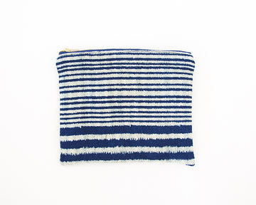 Indigo & White Striped Accessory Bag - #1