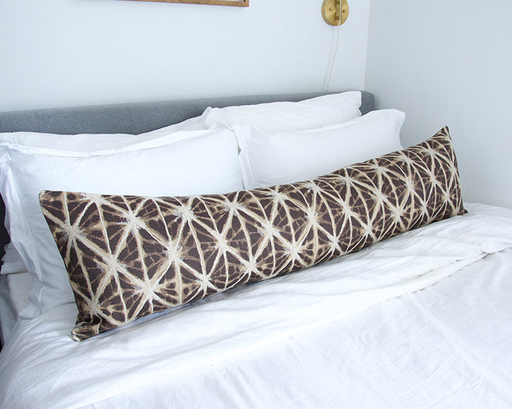 Inola Teak Extra Long Lumbar Pillow -14x50