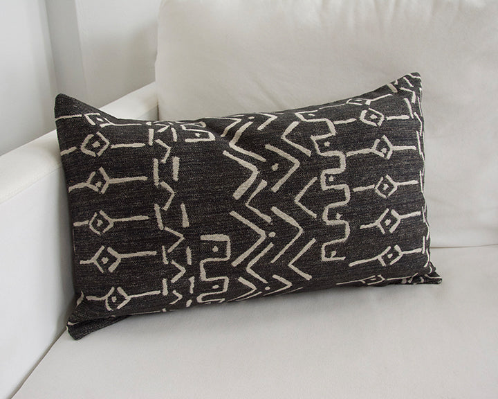 Kona Mud Cloth Pattern Lumbar Pillow - 14x22