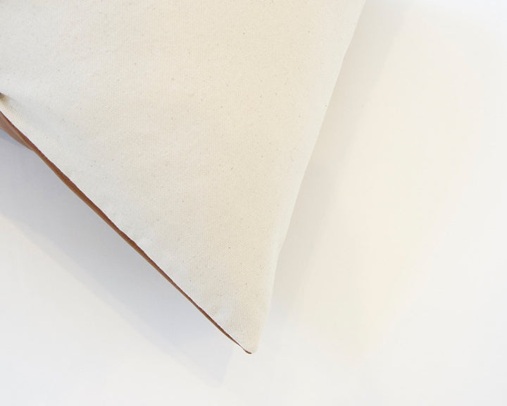 Light Brown Faux Leather Pillow - 20x20