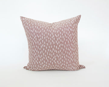 Maroon & White Dashed Accent Pillow - 24x24