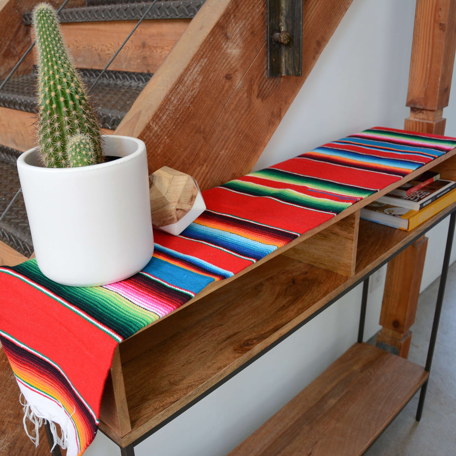 Mexican Serape Runner - Red