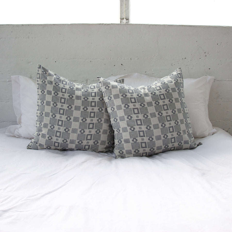 Grey Squares Accent Pillow - 22x22