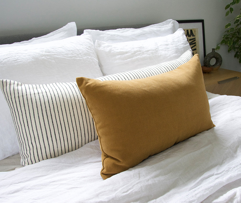 Mustard Lumbar Pillow - 14x22